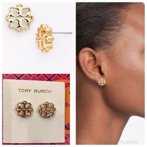 🌺NWOT TORY BURCH LOGO FLOWER EARRINGS 🌺